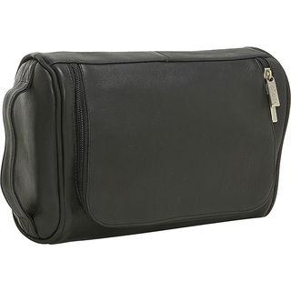 LeDonne Vaqueta Black/Brown/Tan Leather Toiletry Bag