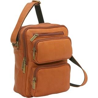 LeDonne Men's Multi-pocket Organizer Leather Bag
