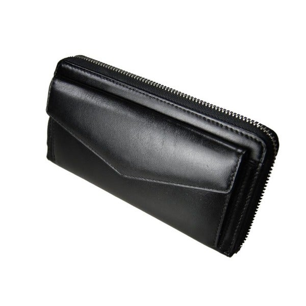 Castello Leather Zip-around Wallet