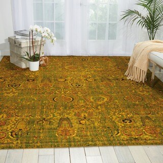 Nourison Timeless Green/Gold Rug (8'6 x 11'6)