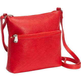 LeDonne Women's Ursula Leather Zip-closure Crossbody Handbag