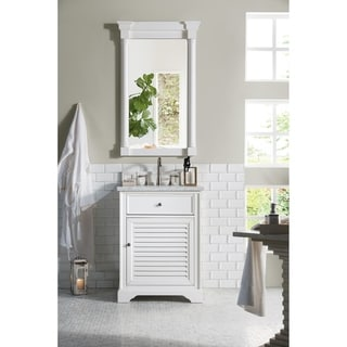 Savannah 26-inch Cottage White Single Vanity Cabinet