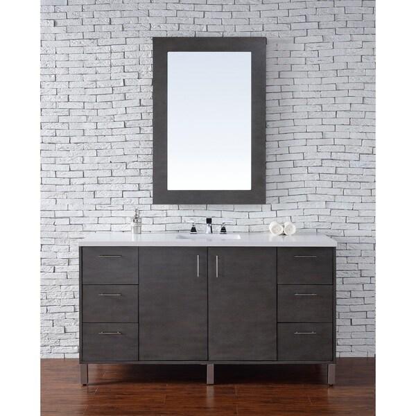 Metropolitan Silver Oak 60-inch Single Vanity