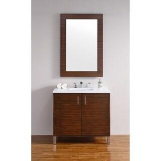 Metropolitan American Walnut 36-inch Single Vanity