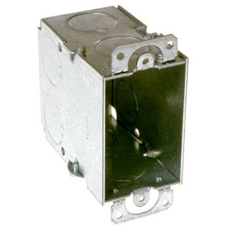 Hubbell Raco 8590 Single Gang Switch Box With Conduit Knockouts