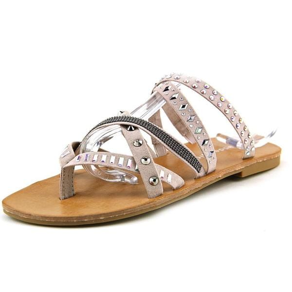 Madden Girl Women's Hoffmen Grey Fabric Sandals