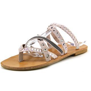 Madden Girl Women's Hoffmen Grey Fabric Sandals