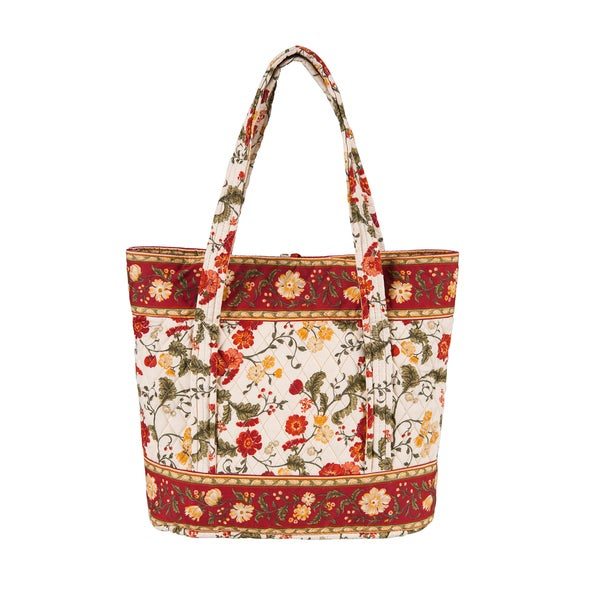 Carlisle Red Large Quilted Tote Bag