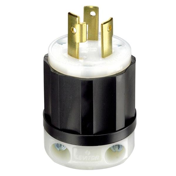 Leviton 061-2621 30 Amp 3W, 2P NEMA L6-30P Locking Plug