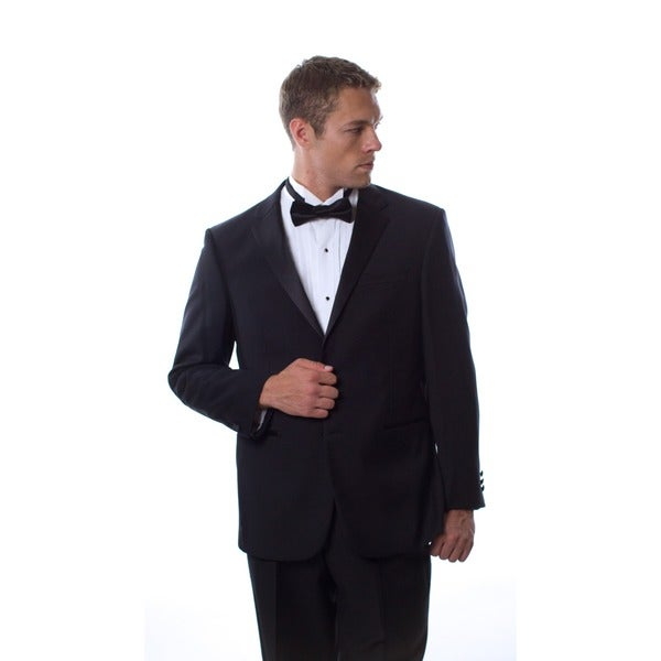 Prontomoda Europa Black Wool Tuxedo Size 40R/34W(As Is Item)