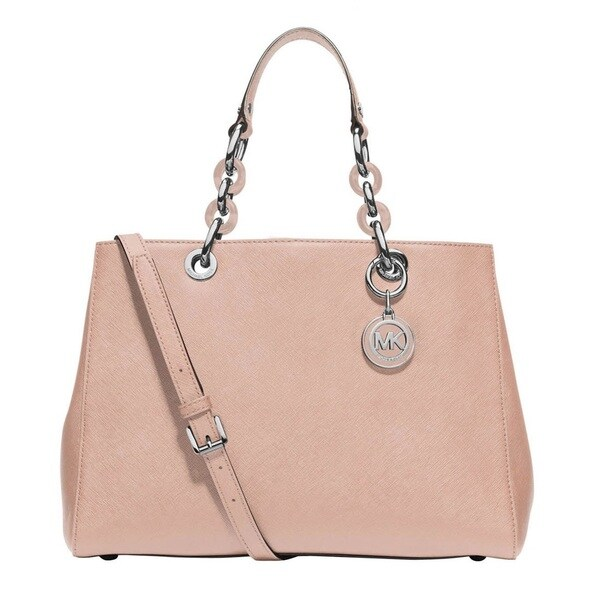 Michael Kors Cynthia Ballet Medium Saffiano Leather Satchel Handbag