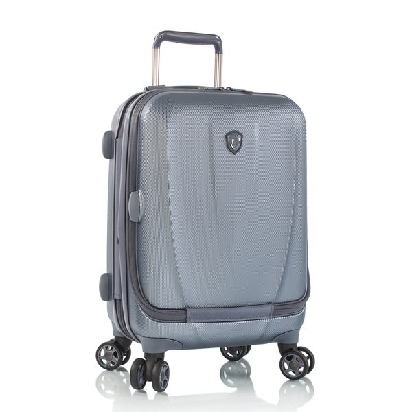 Heys Vantage 21-inch Slate Blue Smart Suitcase with Laptop Pocket