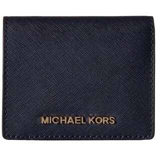 Michael Kors Jet Set Travel Navy Flap Card Holder