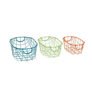 Marvelous Metal Storage Basket (Set of 3)