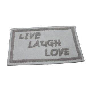 'Live, Laugh, Love' Bath Rug (21 inches x 34 inches)
