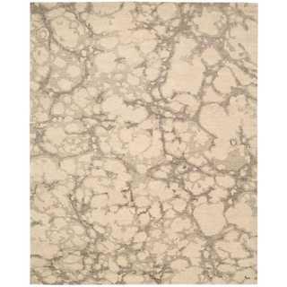 Nourison Tahoe Modern Linen/Grey Rug (8'6 x 11'6)