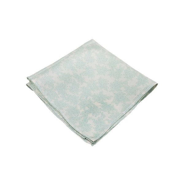 The Floral Memento Men's Blue Silk Pocket Square