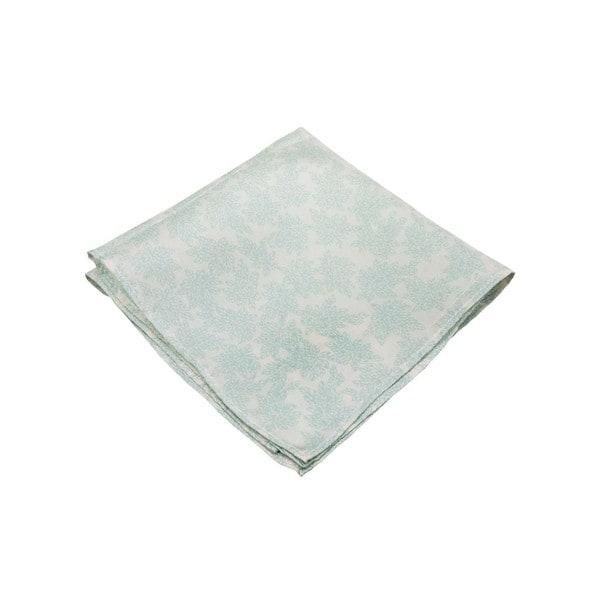 The Floral Memento Men's Blue Silk Pocket Square