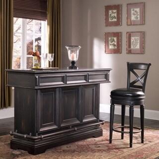 Barolo Wood and Granite Bar in Black
