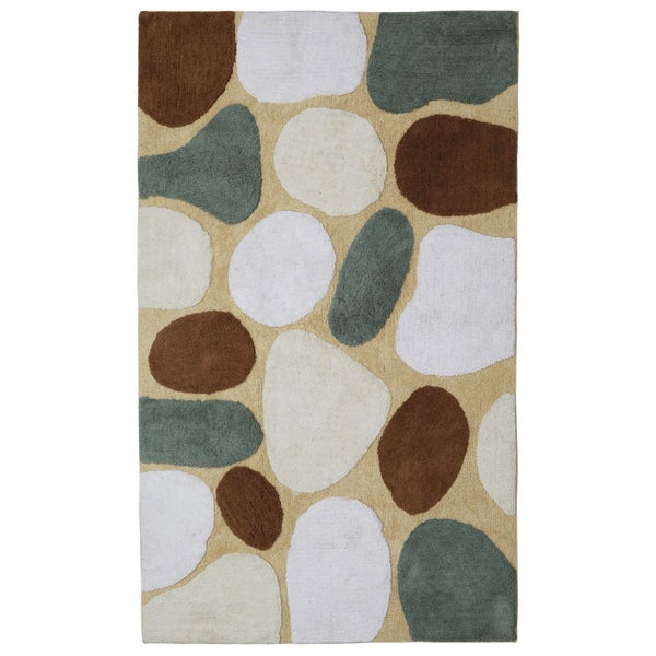 "Tan Pebble Beach Bath Rug (21""x34"")"