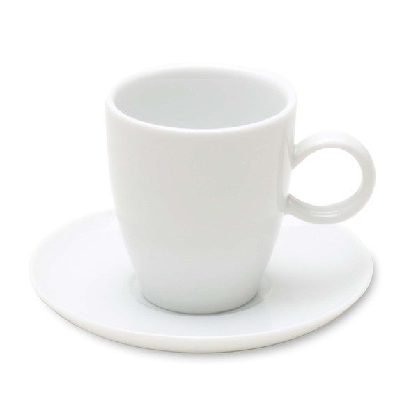 TAG Whiteware Espresso Cup and Saucer (Set of 4) 18617630