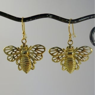 Spirit Tribal Fusion Bumble Bee Earrings (Indonesia)