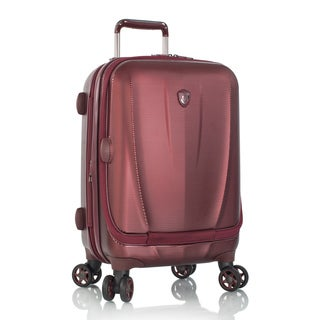 Heys Vantage Burgundy 21-inch Polycarbonate Hardside Carry-on Smart Upright Laptop Suitcase
