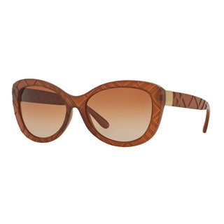 Burberry Women's BE4217 357513 Brown Plastic Butterfly Sunglasses