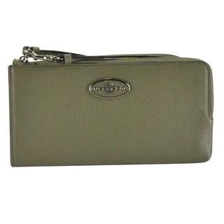 Coach Women's Refined Grain Leather Zip Wallet