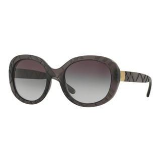Burberry Women's BE4218 35818G Grey Plastic Round Sunglasses