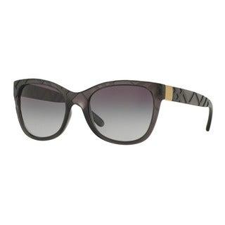 Burberry Women's BE4219 35818G Grey Plastic Square Sunglasses