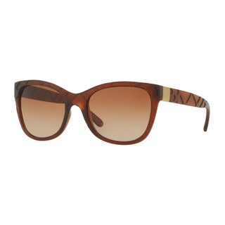Burberry Women's BE4219 358313 Brown Plastic Square Sunglasses