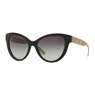 Burberry Women's BE4220 34648G Black Plastic Butterfly Sunglasses