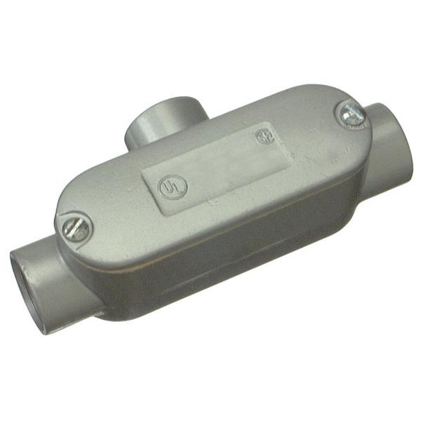 "Halex 58810 1"" Aluminum Conduit Body With Cover & Gasket Type T"