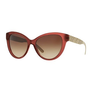 Burberry Women's BE4220 357613 Red Plastic Butterfly Sunglasses