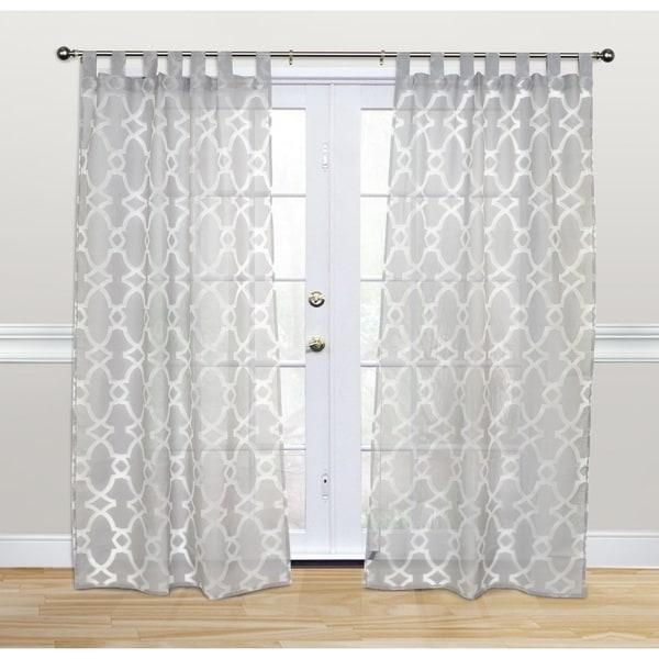 Kosas Home Dorris 84-inch Grey Tab-top Panel