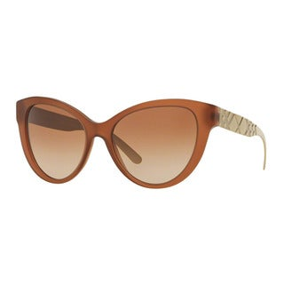 Burberry Women's BE4220F 357513 Brown Plastic Butterfly Sunglasses