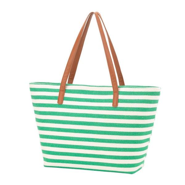 Charlotte Striped Travel Tote Bag
