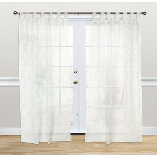 Kosas Home White Polyester Dorris 84-inch Tab-top Curtain Panel