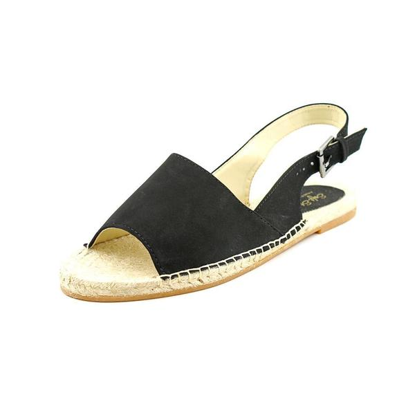 Soft Style by Hush Puppies Women's 'Leah' Black Faux Suede Sandals