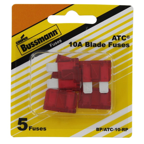 Bussman BP/ATC-10 RP 10 Amp Fuses (Pack of 5)