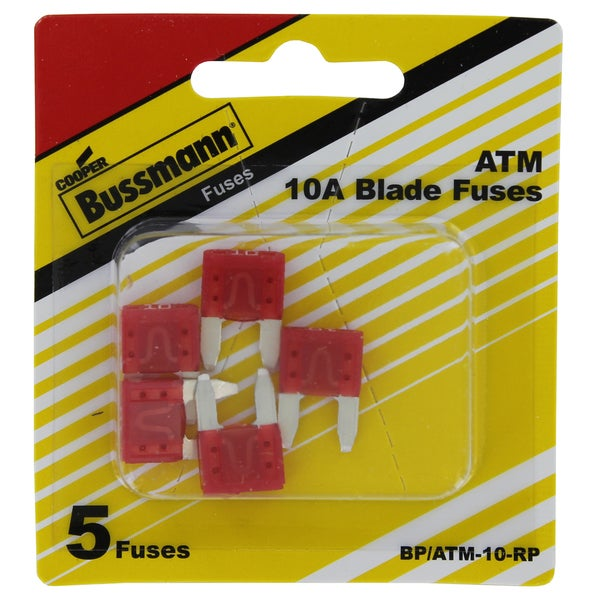 Bussman BP/ATM-10 RP 10 Amp Mini Fuses (Pack of 5)