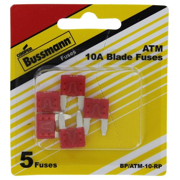 Bussman BP/ATM-10 RP 10 Amp Mini Fuses (Pack of 5)