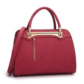 Dasein Fashion Gold Tone Satchel Handbag