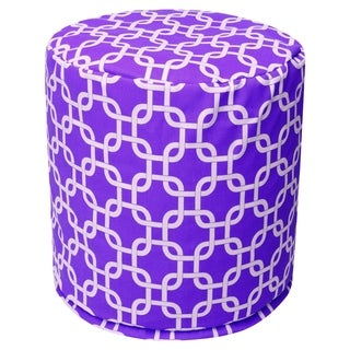 Majestic Home Goods Purple Links Pouf