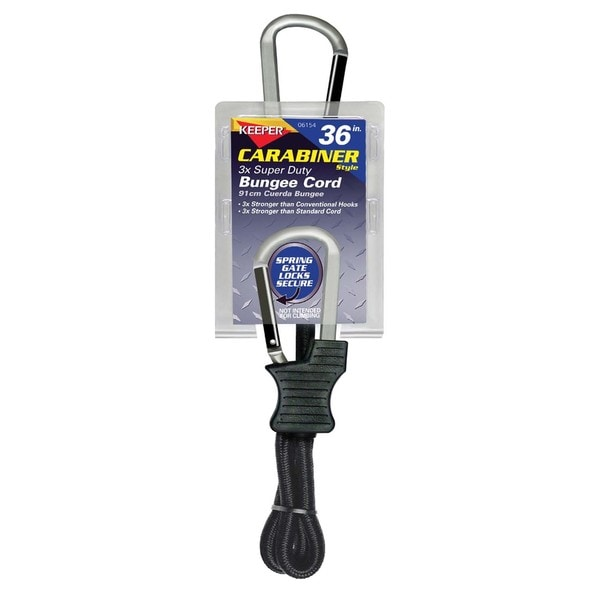 Keeper 06154 36-inch Carabiner Style Bungee Cord
