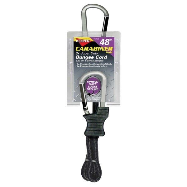 Keeper 06158 48-inch Carabiner Style Bungee Cord