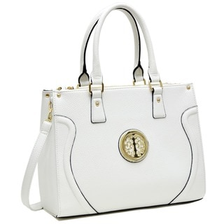 Dasein Fashion Gold-Tone Work Satchel Handbag