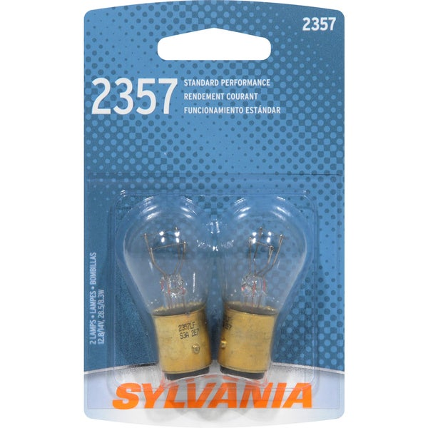 Sylvania 2357BP Clear Double Filament S-8 Bayonet Bulb (Set of 2)