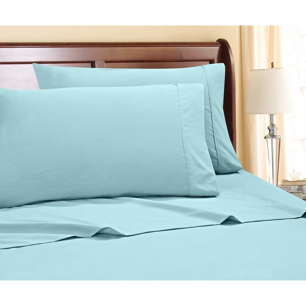 Premium 800 Thread Count Cotton-Rich 4-Piece Sheet Set